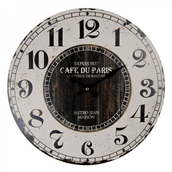 "Wanduhr ""Cafe du Paris"", Clayre & Eef"