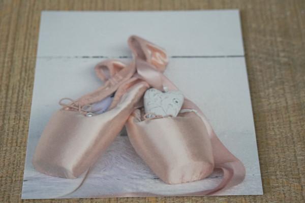 """Karte """"Ballettschuhe"""""""