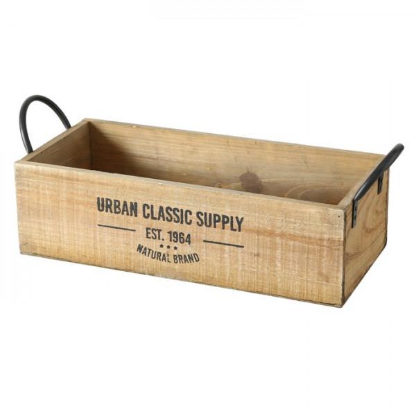 Holzbox längs mit Henkel