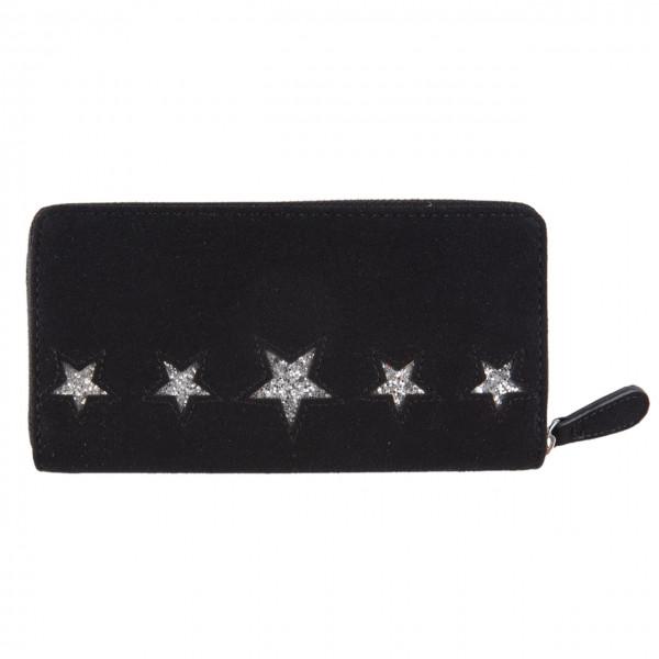 Portemonnaie mit Stern, schwarz