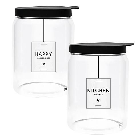 "Vorratsglas gross ""Happy, Kitchen"" - Bastion Collections"