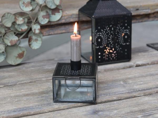 Glasbox mit Kerzenhalter - Chic Antique