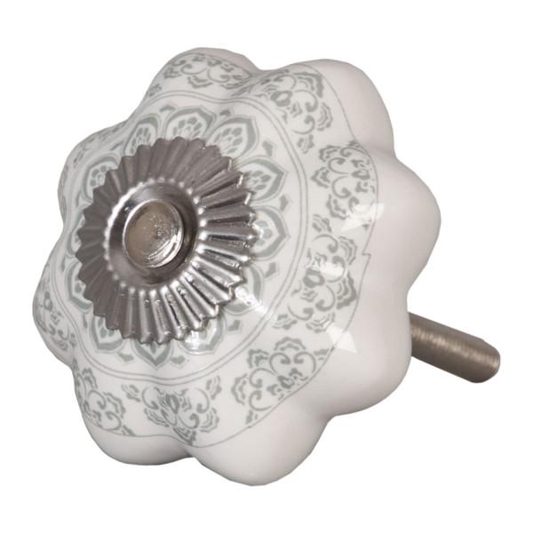 Möbelknauf mit Blumenverzierung Clayre&Eef