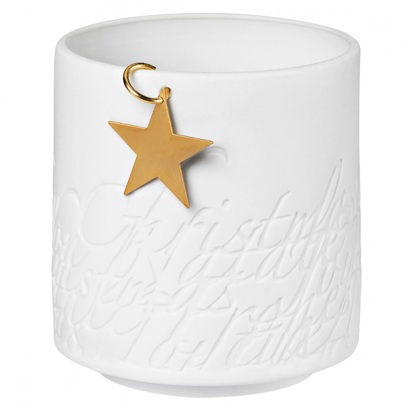 Windlicht aus Porzellan mit Stern - Räder