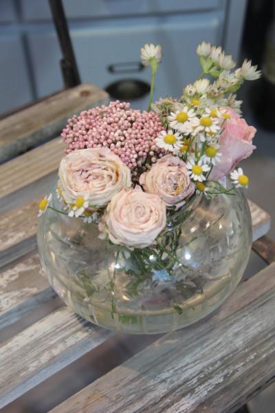 Vase bauchig mit Schliff (Ranken)